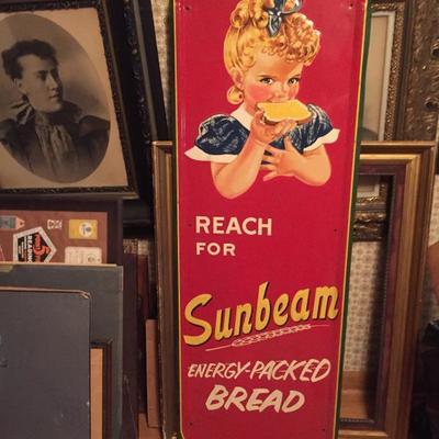 Vintage Sunbeam Bread Enameled sign