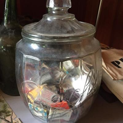 Vintage Beich's store counter candy jar