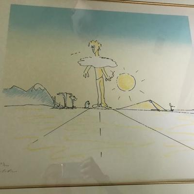 The artwork of John Lennon.