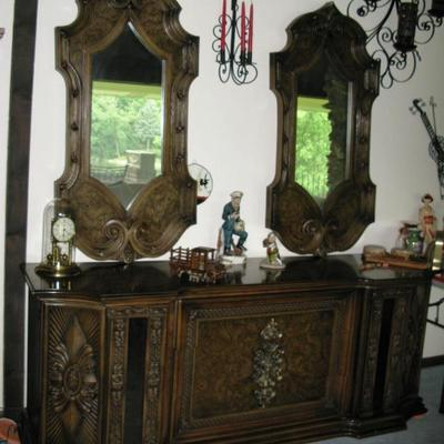 ornate dresser with mirrors   BUY IT NOW