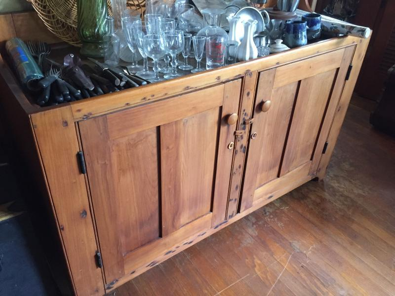 Antique copper lined Dry Sink.