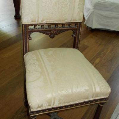 Hand carved parlor chair $120 14 1/2 X 15 1/2 X 35