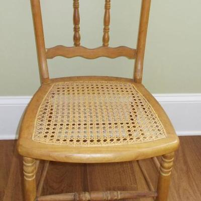 Side chair with cane seat $49