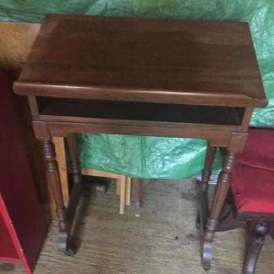Selection of Wooden Chairs and small pieces of furniture.
