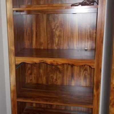 Lighted bookcase $65 two available