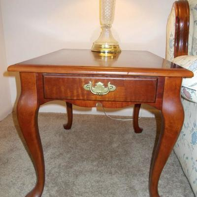 Queen Anne style end table $110 two available