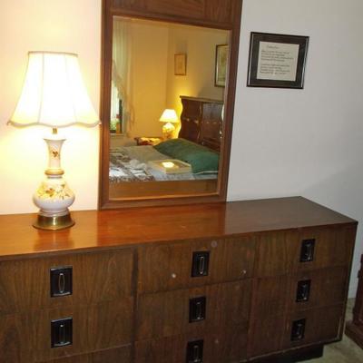 Dresser with mirror $120