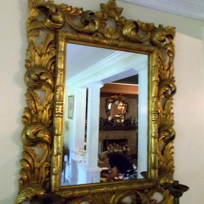 Gold composite mirror $375 46 X 33