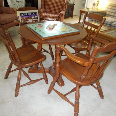Table and 4 chairs $175