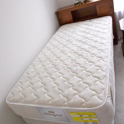 Twin headboard $35 Twin Beautyrest boxspring and mattress with frame $79