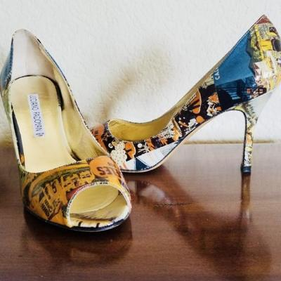 Luciano Padanova. Carola Holiday. Heels. Size 8 M. NEVER USED. Retails for $568. Estate sale price: $325.