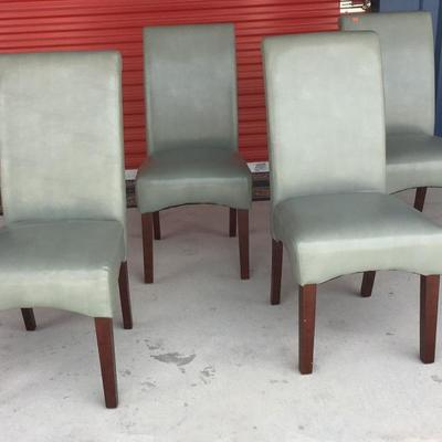 4 Gray Faux Leather Dining Room Chairs IB2003 Local Pickup https://www.ebay.com/itm/123347799594