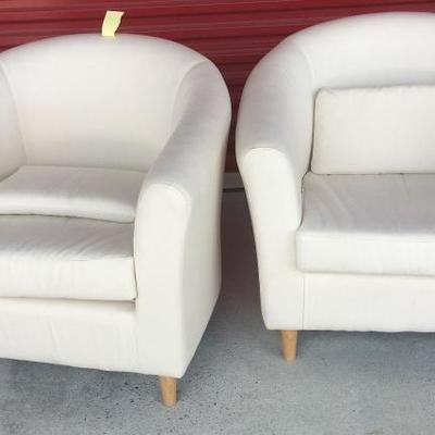 2 White Linen Occasional Chairs WN7008 https://www.ebay.com/itm/113230874475