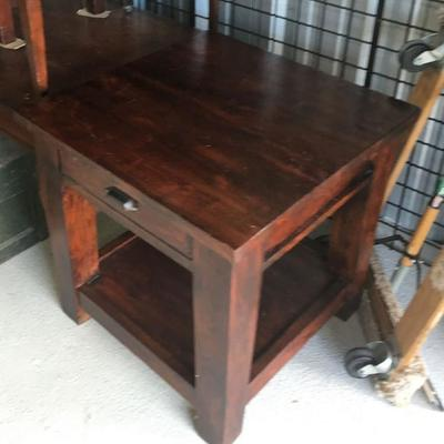 Wood Block Style End Table WN7013 Local Pickup https://www.ebay.com/itm/123350081919