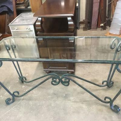 Glass and Metal Long Table Green LA8777 https://www.ebay.com/itm/113232486524
