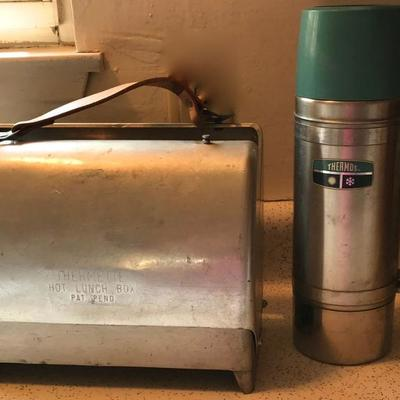 The Coolest Vintage 1940'S Thermette Hot Lunch Box and unique Thermos with acrylic handle