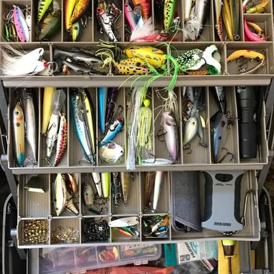 Thousands Of New, Many In Original Packaging, High-End Fishing Gear & Supplies. Reels, Rods, Bait, Hook, Lures, Flashlights, Knives, Head...