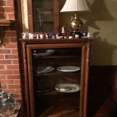 Antique Oak China/Display Cabinet