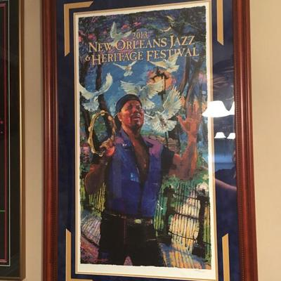2013 New Orleans Jazz and Heritage Festival Poster Framed HEART SONG: A Portrait  https://www.ebay.com/itm/113240858027
