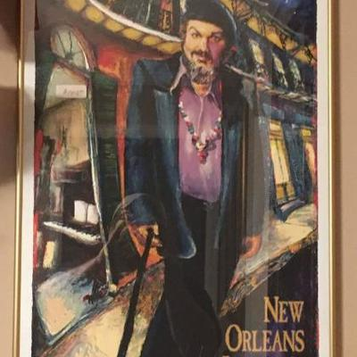 1998 New Orleans Jazz and Heritage Festival Poster Framed Dr. John by James Mich  https://www.ebay.com/itm/123361870500