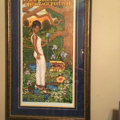 2008 New Orleans Jazz and Heritage Festival Poster Framed 2008 Time Is On Her Si  https://www.ebay.com/itm/113240857411