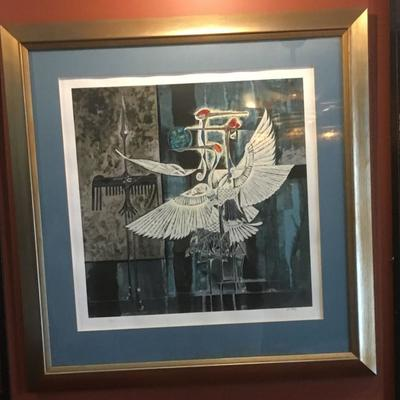 Lin Hong: Numbered Lithograph Very Large Framed IB900 Mid Century Modern  https://www.ebay.com/itm/123361881376