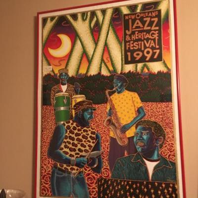 1997 New Orleans Jazz and Heritage Festival Poster Framed The Neville Brothers b  https://www.ebay.com/itm/113240855559