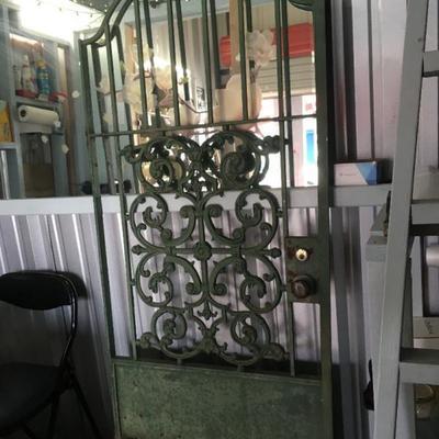 Wrought Iron Door: Green Garden Gate ALY2018 Local Pickup https://www.ebay.com/itm/113283928510