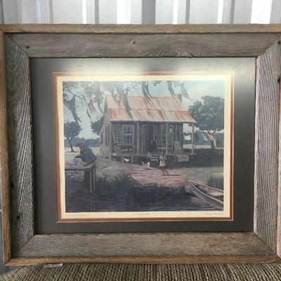 Barn Board Framed Print by Albert DeForest Cajun Family CW006 Local Pickup https://www.ebay.com/itm/113283953716