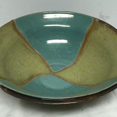 L'Azzio Pottery Bowl Large Center Piece  BD8104  https://www.ebay.com/itm/113288815652