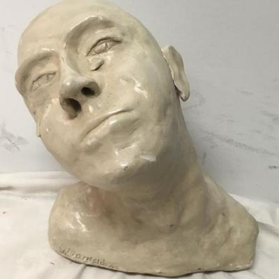 Hand Made Clay Bust by Dr G Arnold 1994 CW0116