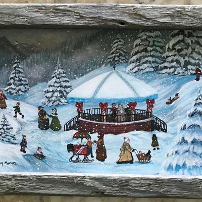 Primitive Americana Old Winter Delights 1987 Cindy Mangutz