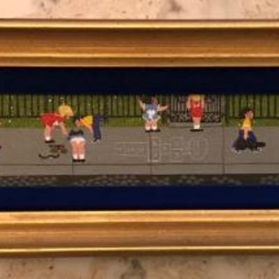 """School Yard Dawdling 1986 2.5"""" x 19.5"""" By Merry KOHN"""