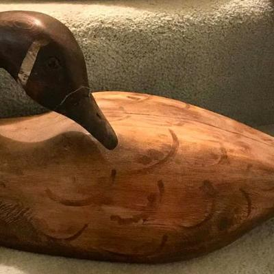 Collection of Antique Duck Decoys. Several signed