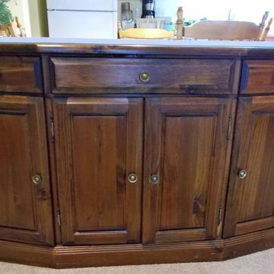 Pine sideboard $225 49 X 14