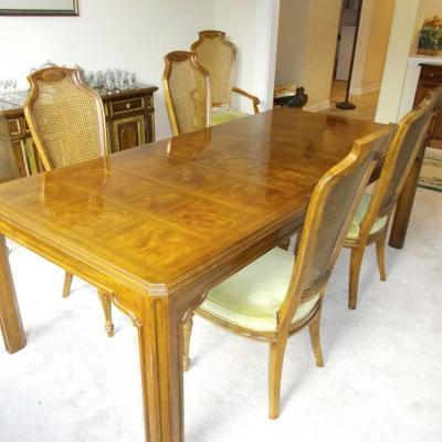 Heritage dining table and 6 chairs $,1790 table $895 side chairs $149 each 4 available armchairs $159 each 2 available Heritage sever...