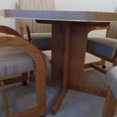 Formica and oak table $145 41 X 29