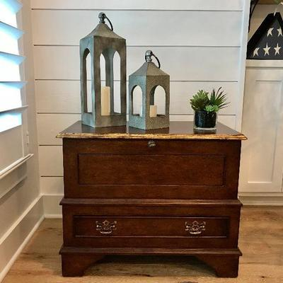 Custom made night stand drawer and trunk. Purchased at $1,000 each. Estate sale price: $250 each. (2 available) ...... More pictures of...