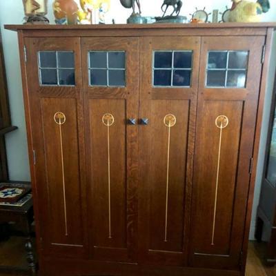 Warren Hile Studio Roycroft style cabinet