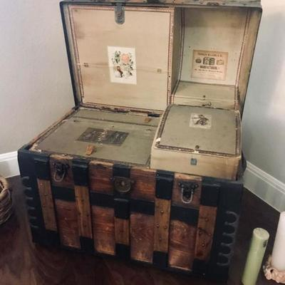 1800's Franklin Williams Steamer Trunk. $1,000