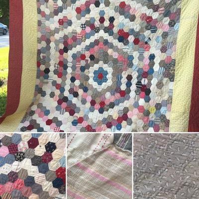 Vintage hand stitched quilt.