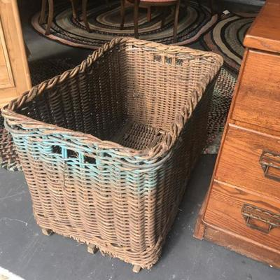 Very large wicker basket. $150
