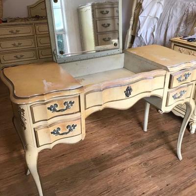 French Provincial Vanity Desk. Price $45