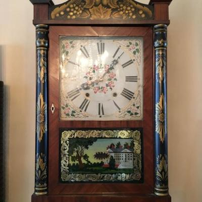George Mitchell Reverse Painted Mantle Clock