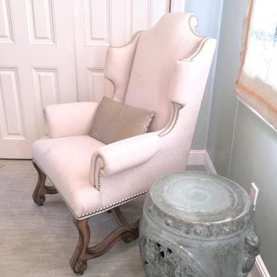 Schnadig wingback chair