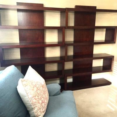 pair of Harrison bookcases by Brownstone