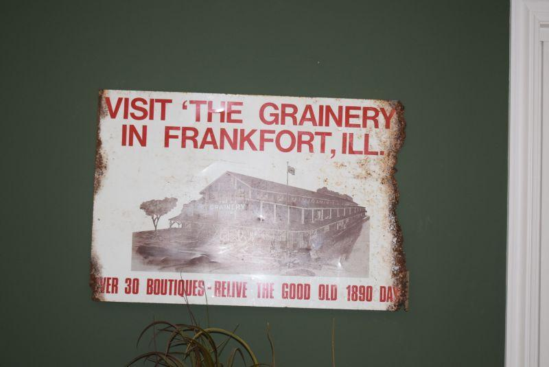 """""""Visit the Grainery in Franfort"""" Sign"""