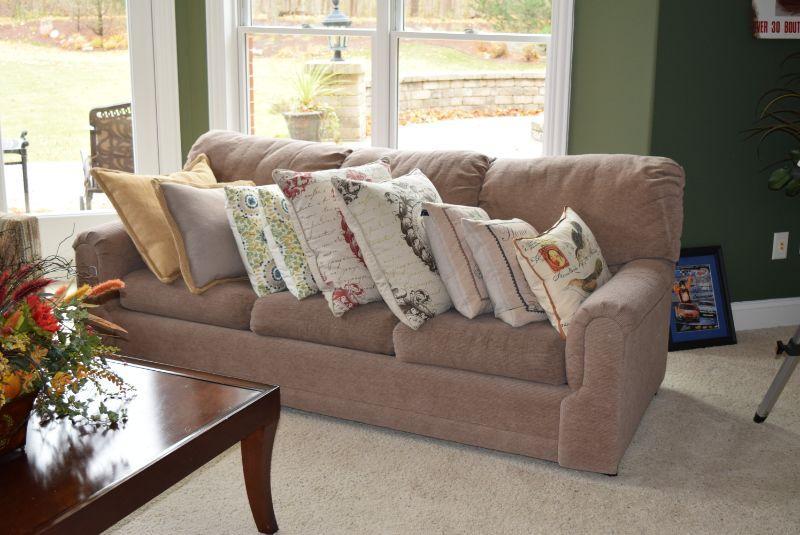Sofa & Decorative Pillows