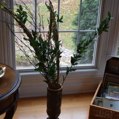 Vase & Artificial Greenery