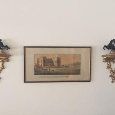 The Assembly Rooms at the Race Grounds, Near Madran Framed Antique Print